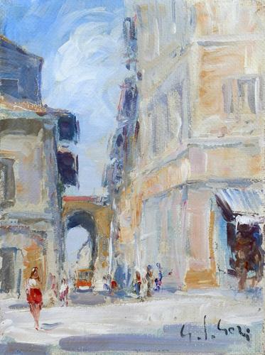 Quadro di Gino Paolo Gori Porta a San Frediano - olio tela