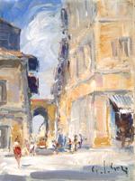 Работы  Gino Paolo Gori - Porta a San Frediano oil холст