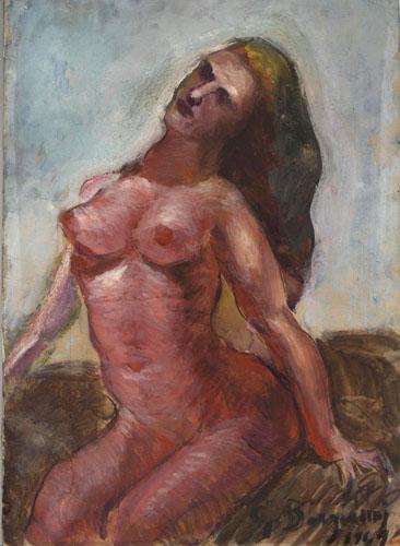 Quadro di Guido Borgianni Nudo - tempera carta su tavola