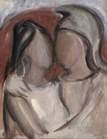 Quadro di Giorgio Polykratis  Due Figure