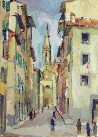 Quadro di Rodolfo Marma Borgo Allegri - olio tela