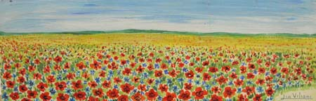 Quadro di Lia Viliani Paesaggio - olio tavola