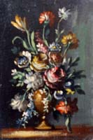 Work of  Anonimo 900 - Fiori oil canvas cardboard