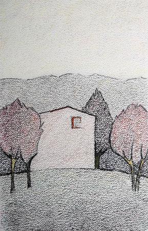 Quadro di Alviero Tatini Primavera - pastello carta