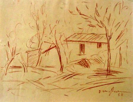Art work by Dino Migliorini Casolare - blood paper