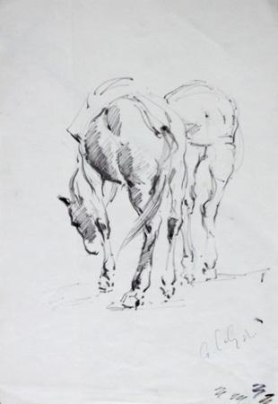 Quadro di Gino Paolo Gori Cavalli - pennarello carta