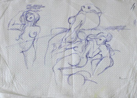 Quadro di Claude Falbriard  Figure femminili