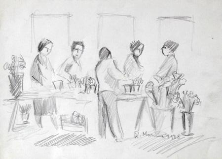 Art work by Rodolfo Marma Fioraio - matita paper