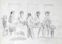 Quadro di Rodolfo Marma - Fioraio matita carta