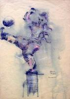 Quadro di Bruno (Bob) Borghesi - La rovesciata mista carta
