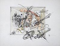 Quadro di Claude Falbriard  Composizione nuda