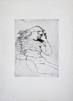 Work of Enzo Faraoni - Figura lithography paper