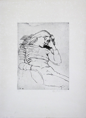 Art work by Enzo Faraoni Figura - lithography paper