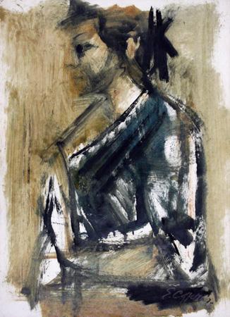 Quadro di Emanuele Cappello Ritratto - olio carta