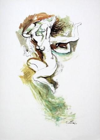 Art work by  Copie d'Autore Nudi (scuola Guttuso) - mixed paper