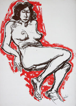 Art work by Remo Squillantini Nudo - lithography paper