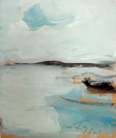 Quadro di Sergio Scatizzi Paesaggio Marino - acquerello carta