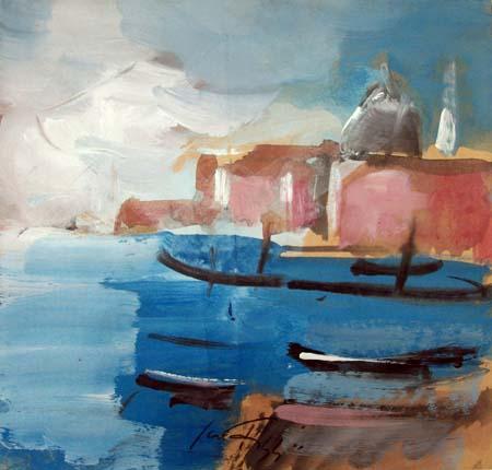 Quadro di Sergio Scatizzi Venezia - acquerello carta