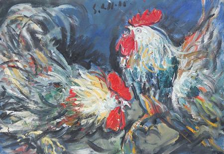 Emanuele Cappello - Battaglia di galli