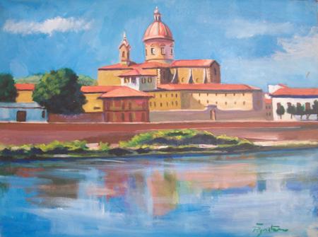 Quadro di Luigi Pignataro Castello - olio tela