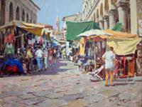 Quadro di Graziano Marsili  Mercato di San Lorenzo