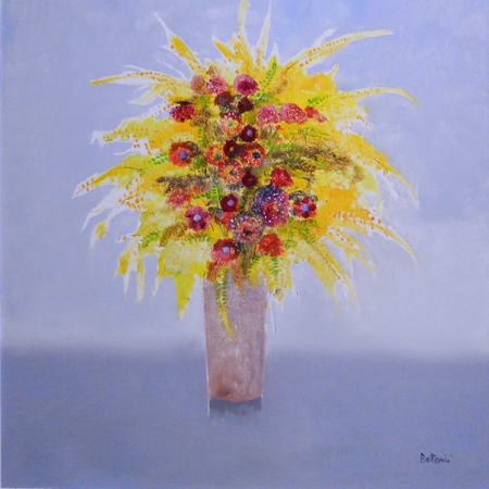Art work by Lido Bettarini Vaso di fiori - oil canvas