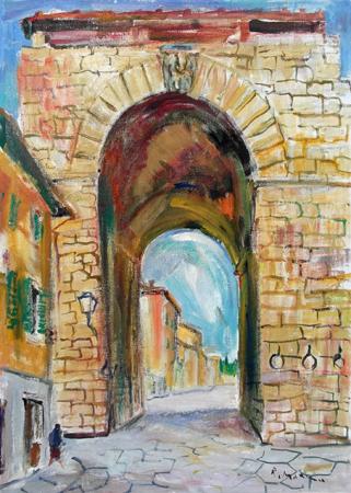 Art work by Rodolfo Marma Porta a San Frediano - oil canvas