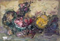 Quadro di Sergio Scatizzi - Natura olio tavola