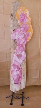 Quadro di  Anonimo Nudo, acrilico su vetro 180 x 50 | FirenzeArt Galleria d'arte