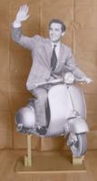 Quadro di Andrea Tirinnanzi - Vittorio Gassman   digiscultura bifacciale carta su tavola