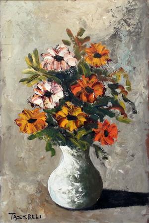 Quadro di sauro tasselli fiori for Quadri olio fiori