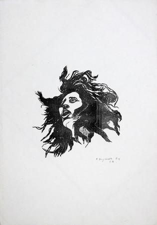 Quadro di Franco Tanganelli Volto - litografia carta