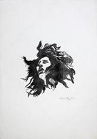 Quadro di Franco Tanganelli - Volto litografia carta