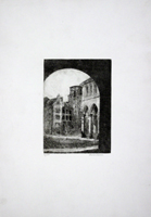 Quadro di Luana Salvoni - Scorcio litografia carta