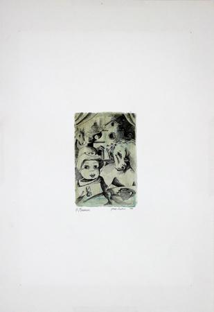 Quadro di Giovanni Maranghi Composizione - litografia carta