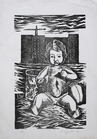 Art work by Franco Tanganelli Figura - lithography paper