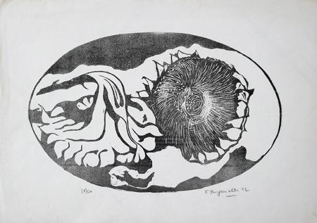 Quadro di Franco Tanganelli Occhio - xilografia carta