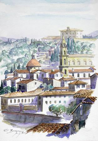 Quadro di Elio Bargagni Santo Spirito (Firenze) - acquerello carta