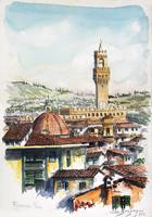 Quadro di Elio Bargagni  Panorama di Firenze