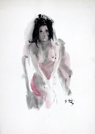 Quadro di Gino Tili Pudore - mista carta