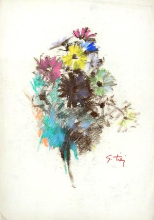 Quadro di Gino Tili Fiori - mista carta