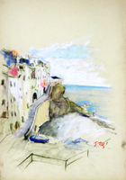 Quadro di Gino Tili  Le Cinque Terre (Spezia)
