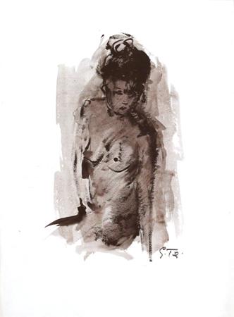 Quadro di Gino Tili Nudo - tempera carta