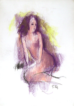Quadro di Gino Tili Nudo - Pittori contemporanei galleria Firenze Art