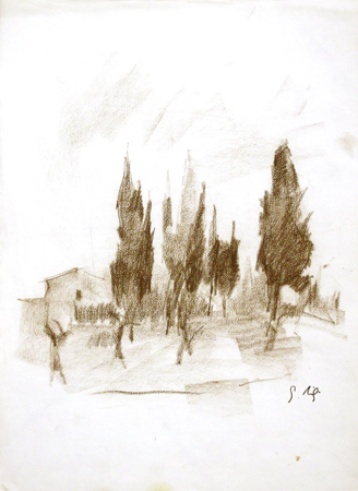 Artwork by Gino Tili, matita on paper | Italian Painters FirenzeArt gallery italian painters