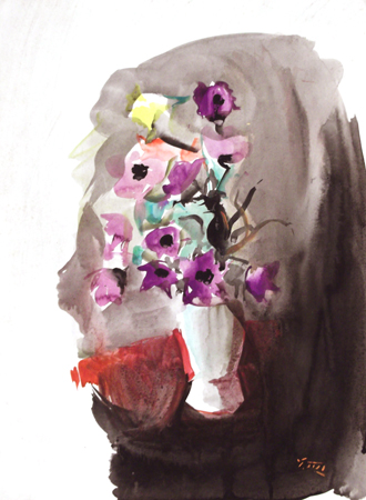 Art work by Gino Tili Anemone - watercolor paper