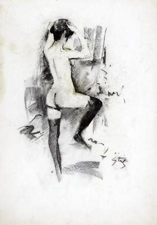 Quadro di Gino Tili Allo specchio - mista carta