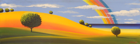 Quadro di Giuseppe Ruberto Paesaggio - olio tela