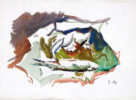 Quadro di Gino Tili Natura morta - acquerello carta