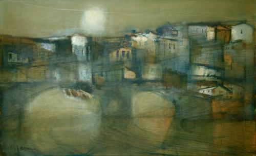 Quadro di Lido Bettarini Ponte  Vecchio - Firenze - olio tavola